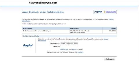 www.paypal einloggen